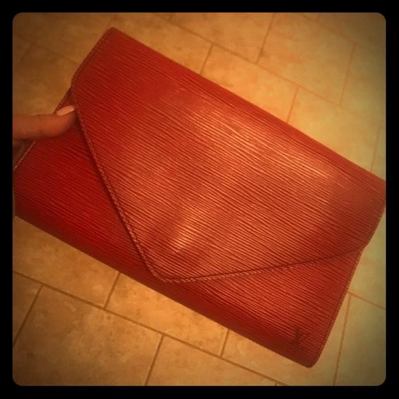 7f1c1786e9897 Louis Vuitton Handbags - Louis Vuitton red Epi Leather Art Deco clutch